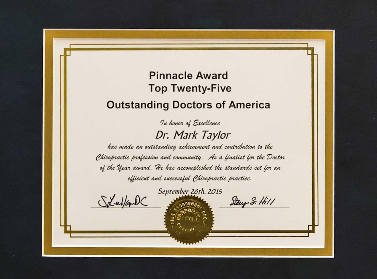 frisco-chiropractor-award