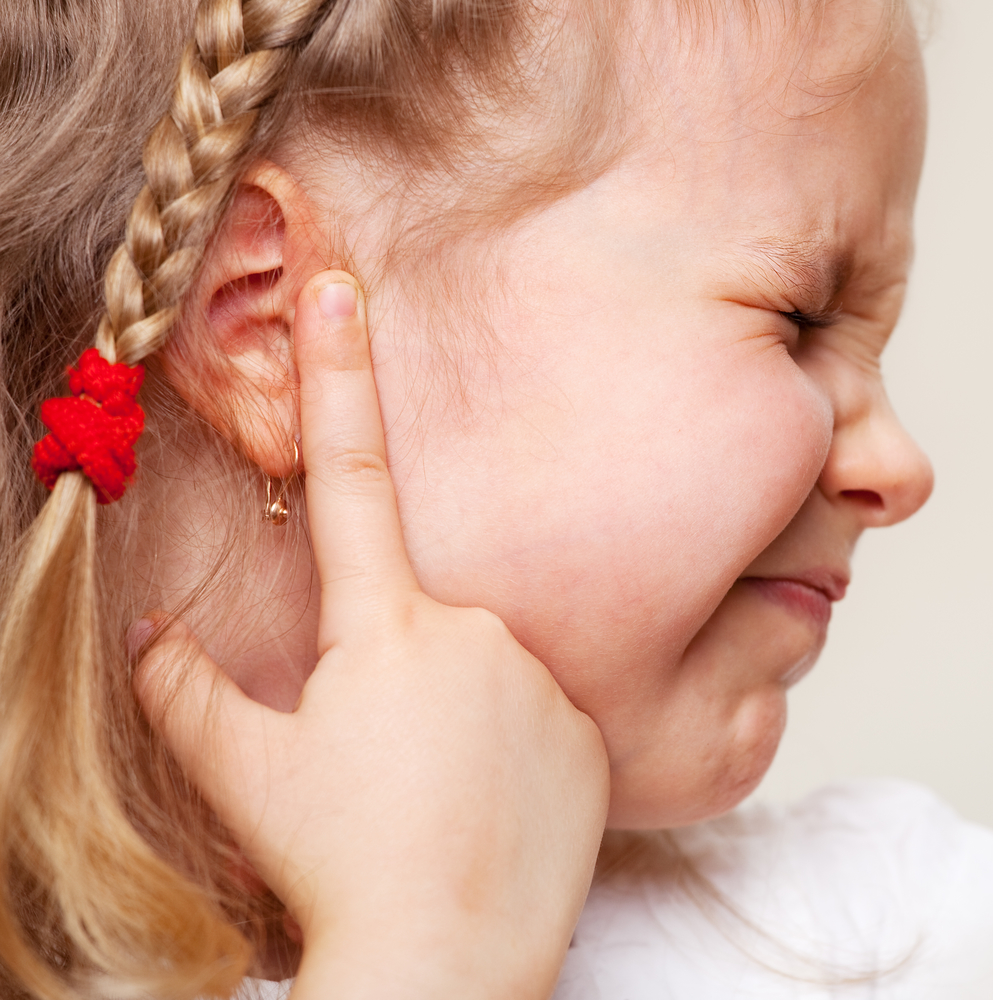 child with ear infection